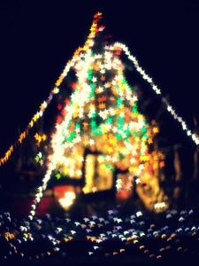 星形キラキラクリスマスツリー